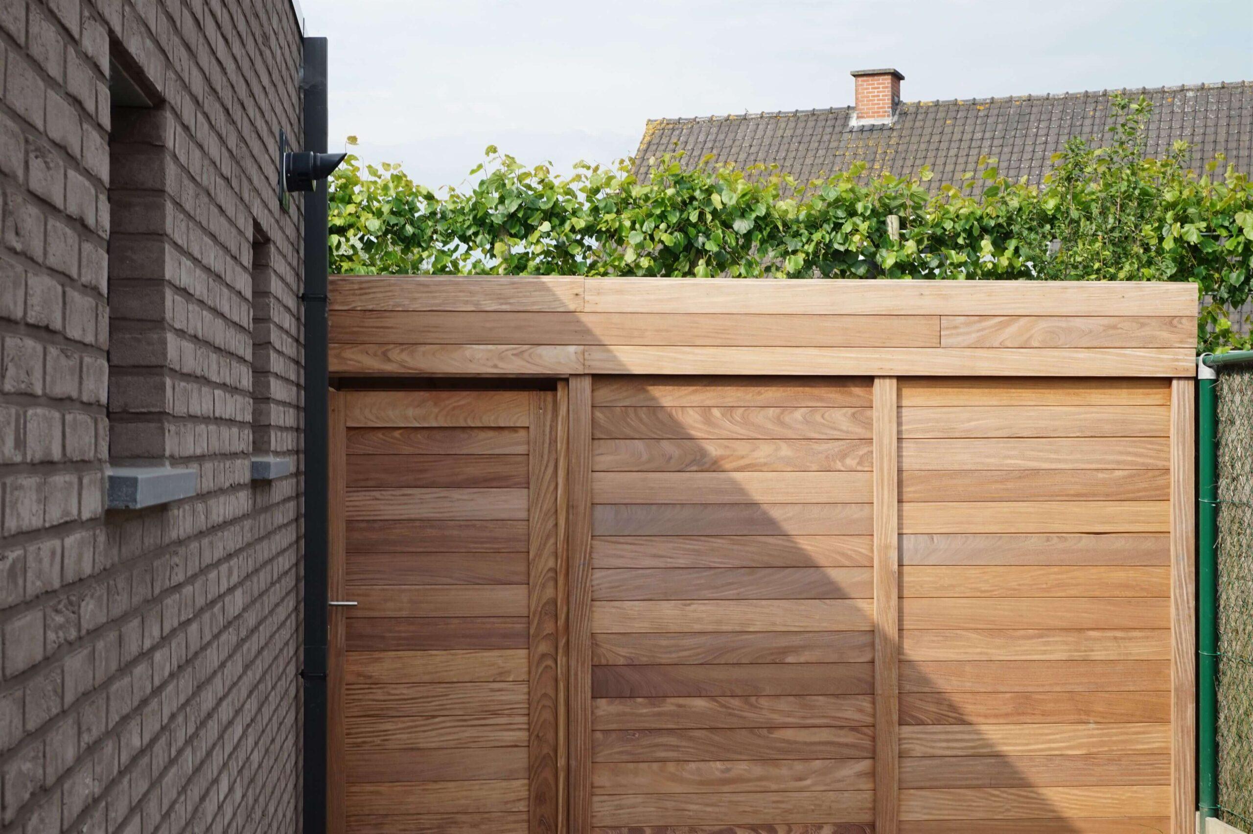 houten afsluitingen tuinen crombez
